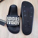 Чоловічі літні шльопанці Adidas (чорні) 40031, фото 4