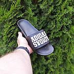 Чоловічі літні шльопанці Adidas (чорні) 40031, фото 5