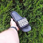 Чоловічі літні шльопанці Adidas (чорні) 40031, фото 6
