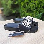 Чоловічі літні шльопанці Adidas (чорні) 40031, фото 7