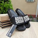 Чоловічі літні шльопанці Adidas (чорні) 40031, фото 8