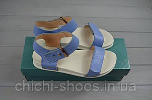 Босоножки женские Arcoboletto 114-725 голубые кожа