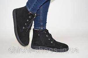 Ботинки женские демисезонные Masis 4063 чёрные замша