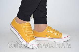 Кроссовки кеды подростковые унисекс Comfort-baby 896-33 жёлтые текстиль