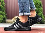 Чоловічі кросівки Adidas (чорно-салатові) 9561, фото 2