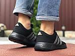 Чоловічі кросівки Adidas (чорно-салатові) 9561, фото 4