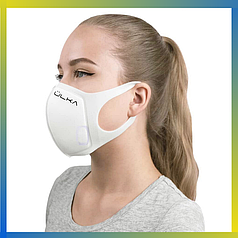 Многоразовая защитная угольная маска Ulka белая