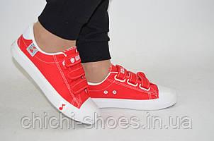Кроссовки кеды подростковые Comfort baby 1225-3 красные текстиль