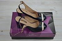 Босоножки женские Foletti 82-1 синие кожа каблук, фото 1