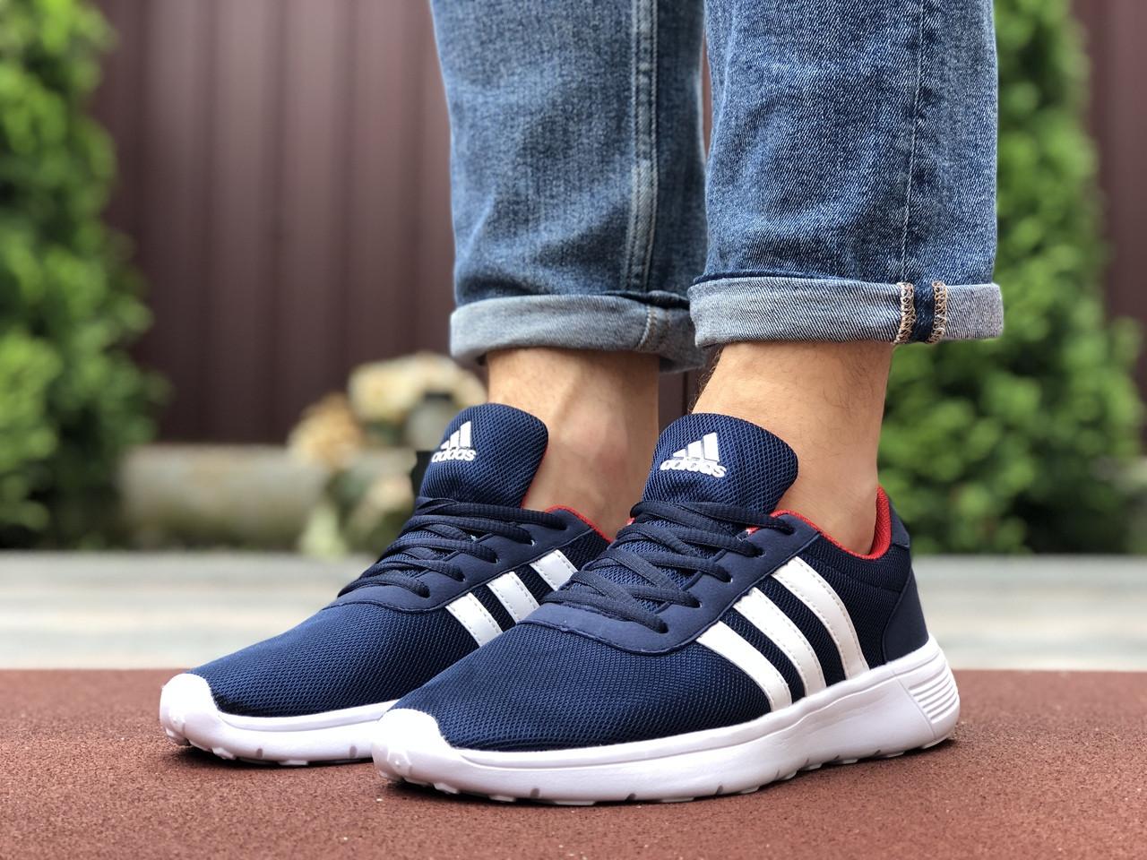 Мужские кроссовки Adidas (сине-белые) 9565