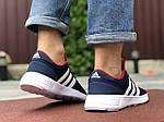 Чоловічі кросівки Adidas (синьо-білі) 9565, фото 3