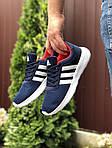 Чоловічі кросівки Adidas (синьо-білі) 9565, фото 4