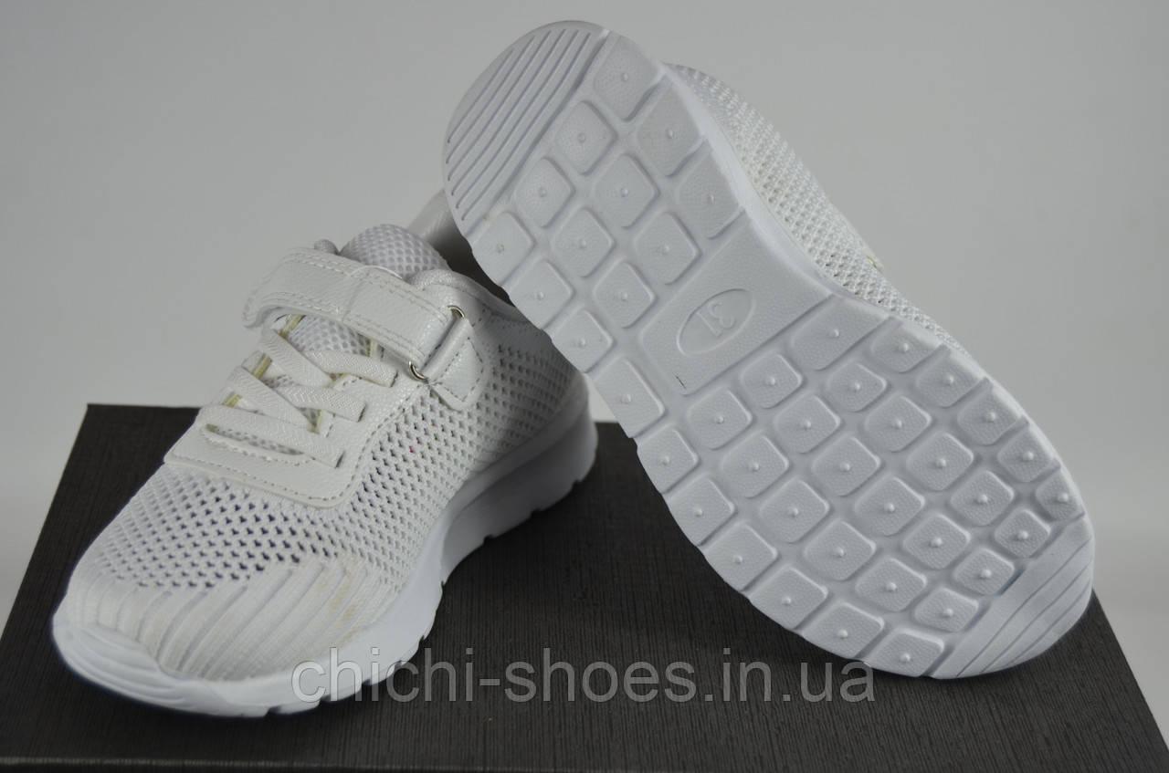 Кроссовки детские Jong Golf 2431-7 белые текстиль