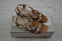 Босоножки женские Mariposa 11249 коричневые кожа каблук, фото 1