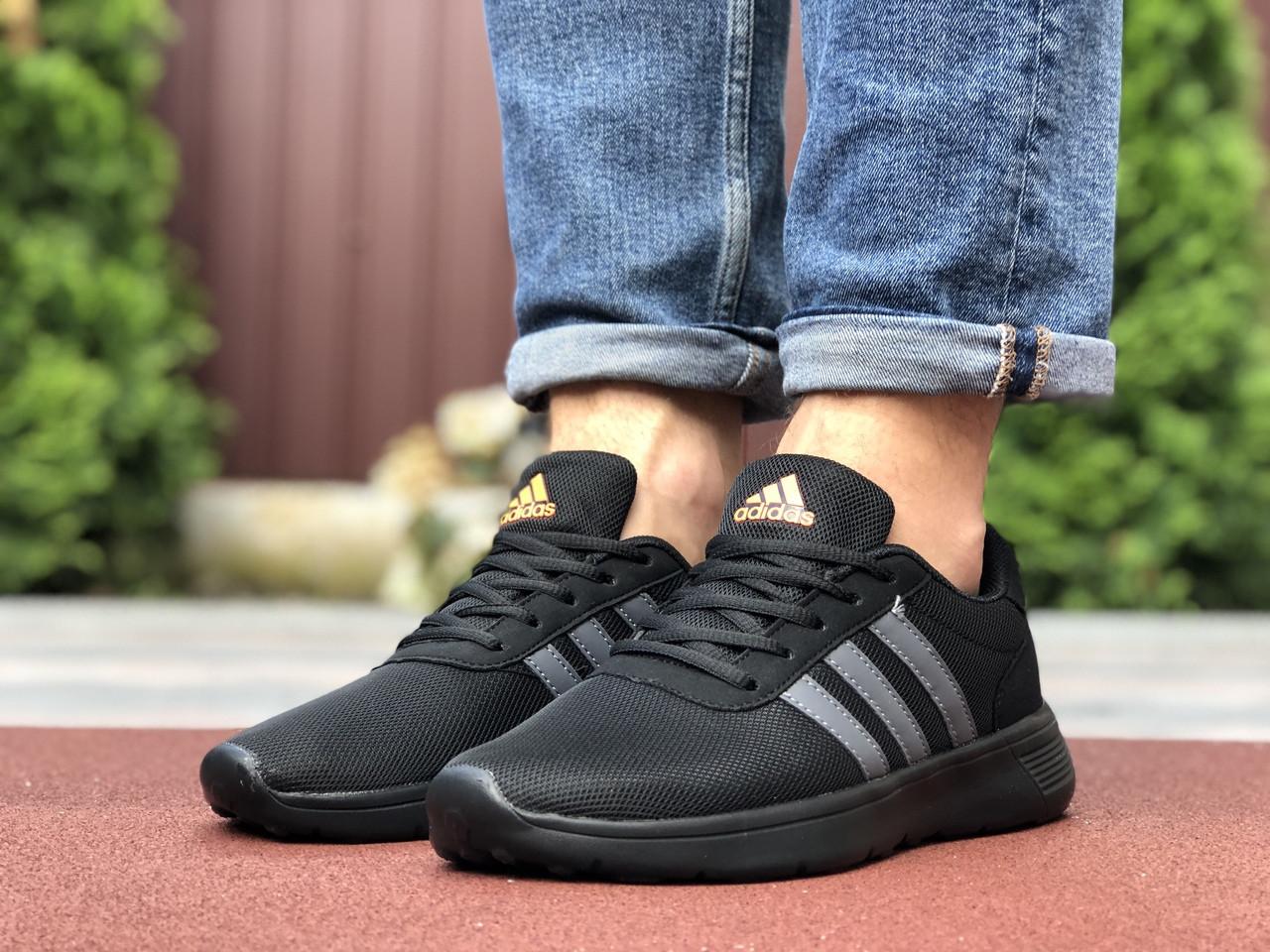 Мужские кроссовки Adidas (черно-оранжевые) 9566