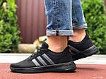 Мужские кроссовки Adidas (черно-оранжевые) 9566, фото 3