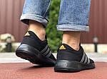 Мужские кроссовки Adidas (черно-оранжевые) 9566, фото 4