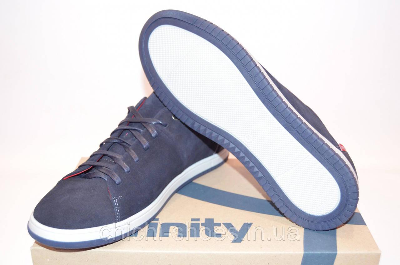 Туфли мужские Affinity 1914-323 синие нубук на шнурках размеры 40,45