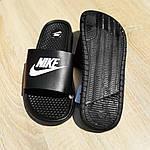 Женские летние массажные шлепанцы Nike (черные) 50018, фото 4