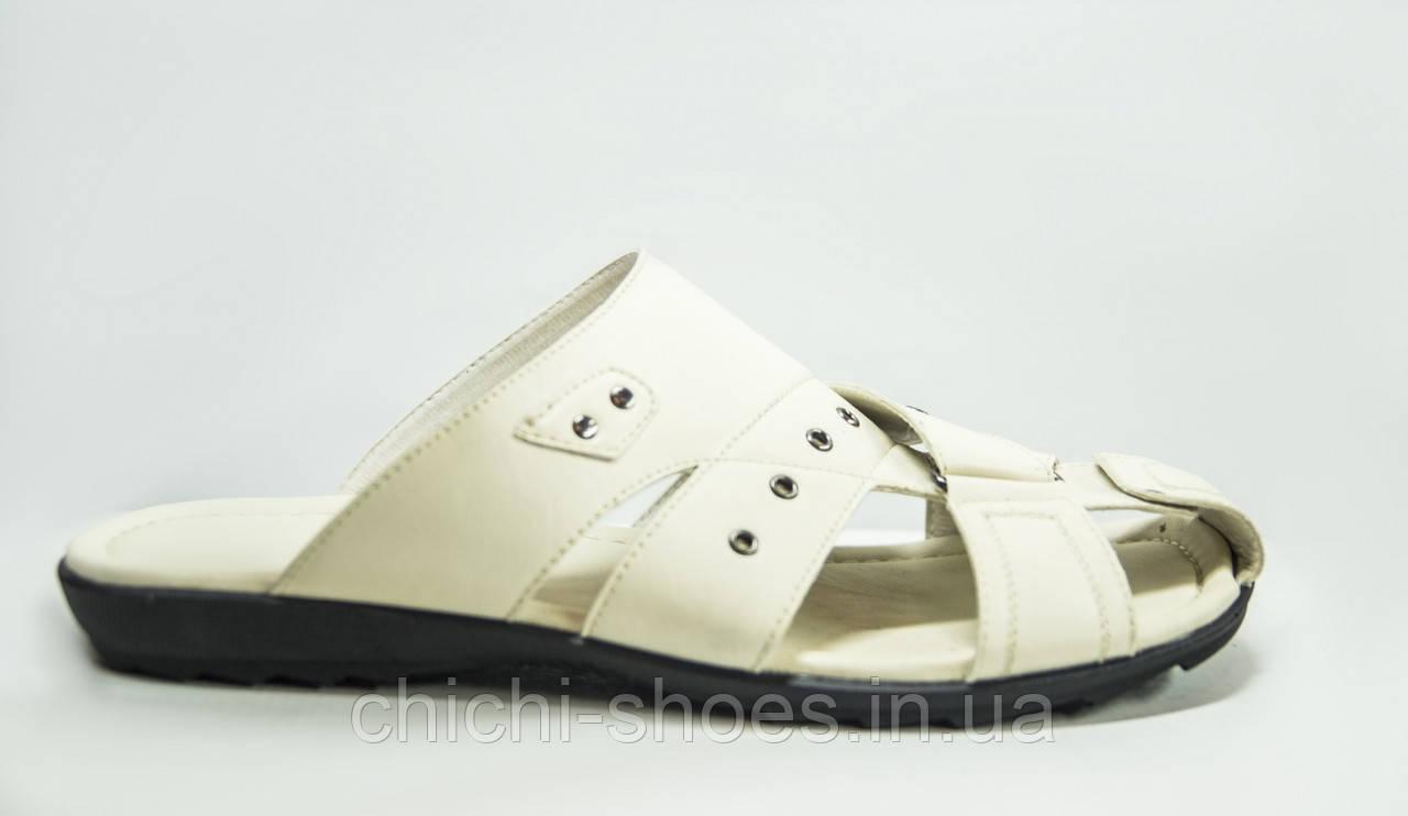 Мужские сандали Forra 11156 белые кожа
