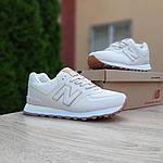 Жіночі кросівки New Balance 574 (бежево-золоті) 20138, фото 6