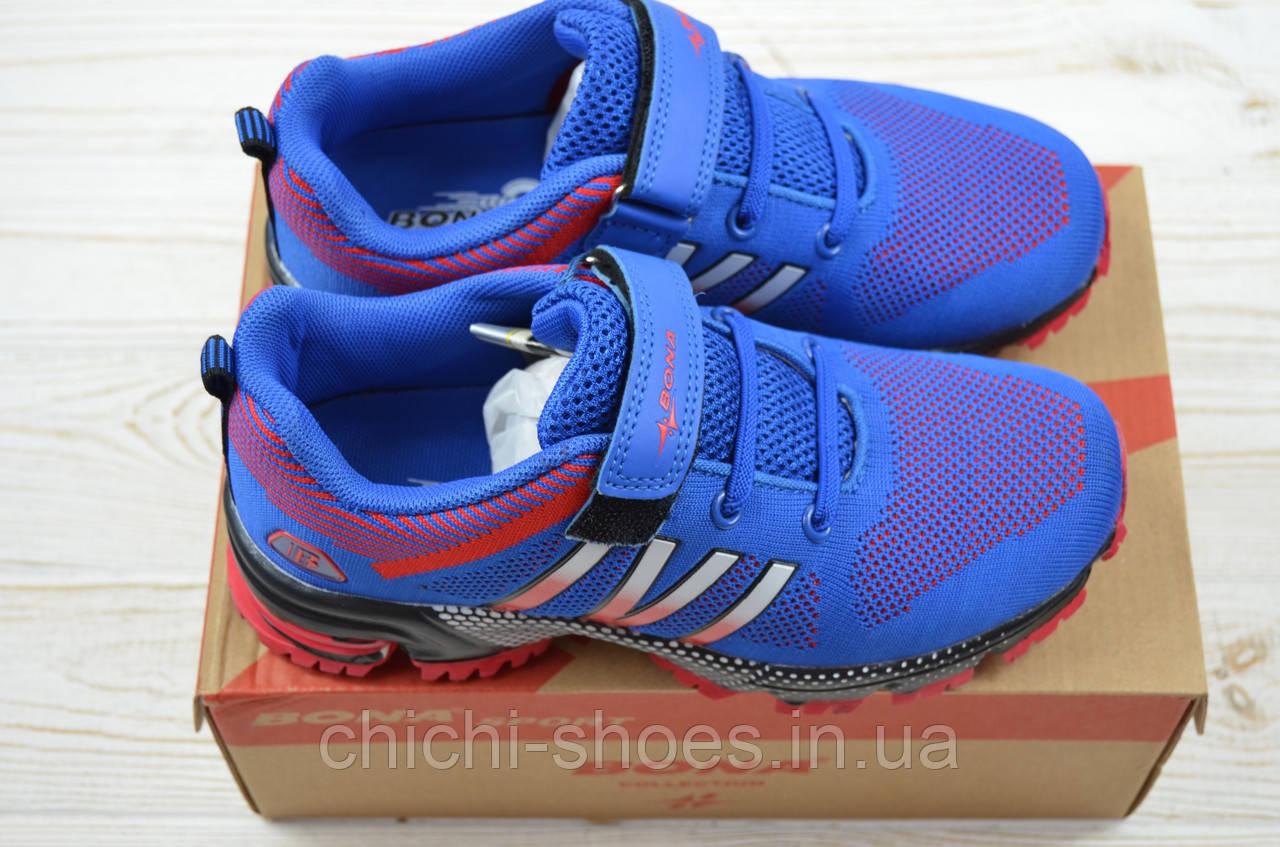 Кроссовки детские Bona118A-11 сине-красные текстиль