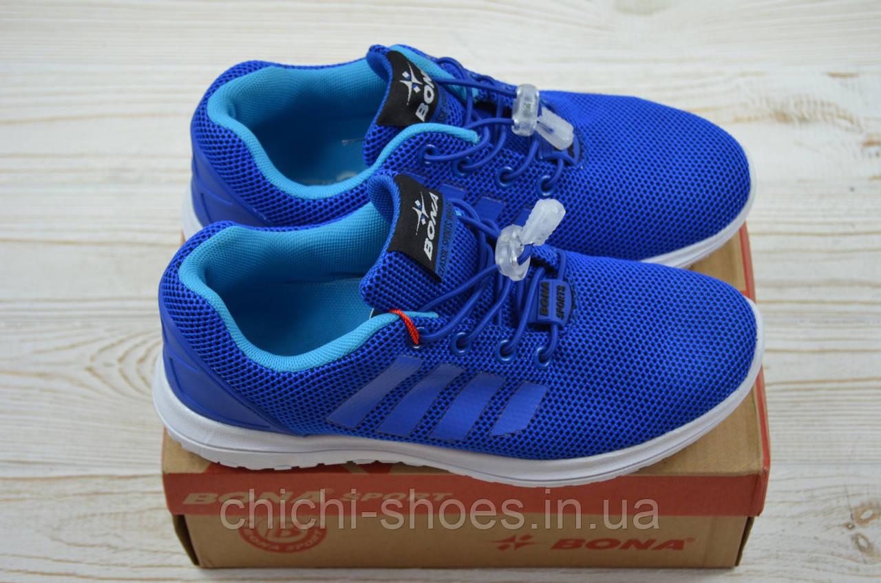 Кроссовки детские Bona 673E-11 синие текстиль (последний 31 размер)
