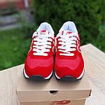 Женские кроссовки New Balance 574 (красные) 20141, фото 4