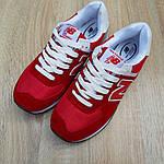 Женские кроссовки New Balance 574 (красные) 20141, фото 5