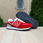 Женские кроссовки New Balance 574 (красные) 20141, фото 6