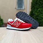 Жіночі кросівки New Balance 574 (червоні) 20141, фото 6