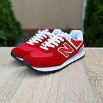 Женские кроссовки New Balance 574 (красные) 20141, фото 7