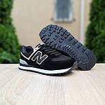 Женские кроссовки New Balance 574 (черно-золотые) 20142, фото 8