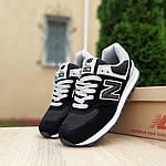 Женские кроссовки New Balance 574 (черные) 20143, фото 3