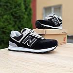 Женские кроссовки New Balance 574 (черные) 20143, фото 4