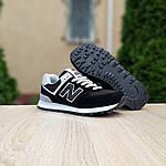 Женские кроссовки New Balance 574 (черные) 20143, фото 5