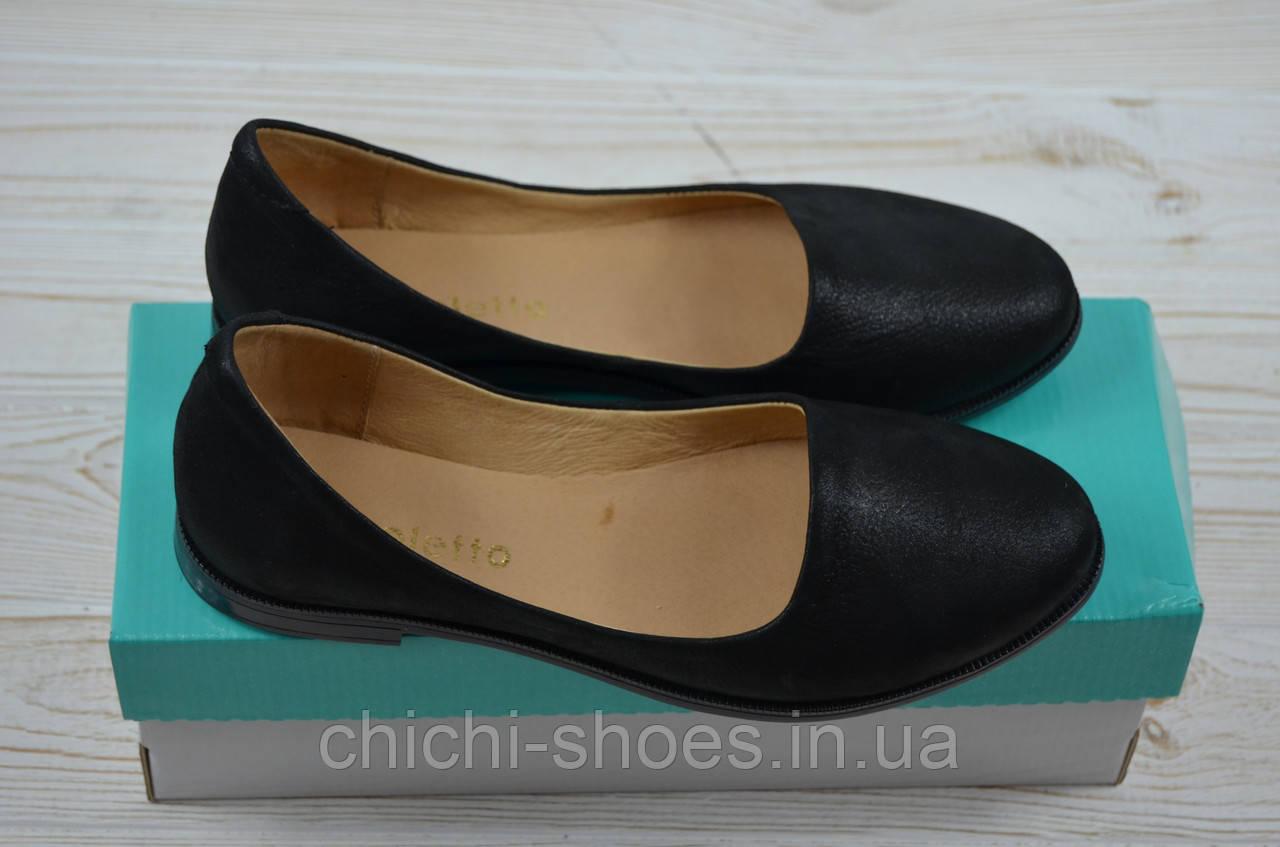 Балетки женские Aroboletto 859-0204-31 чёрный сатин кожа