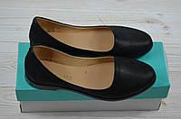 Балетки женские Aroboletto 859-0204-31 чёрный сатин кожа, фото 1