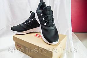 Кроссовки мужские X-TEP 520565 чёрно-белые текстиль+ПВХ