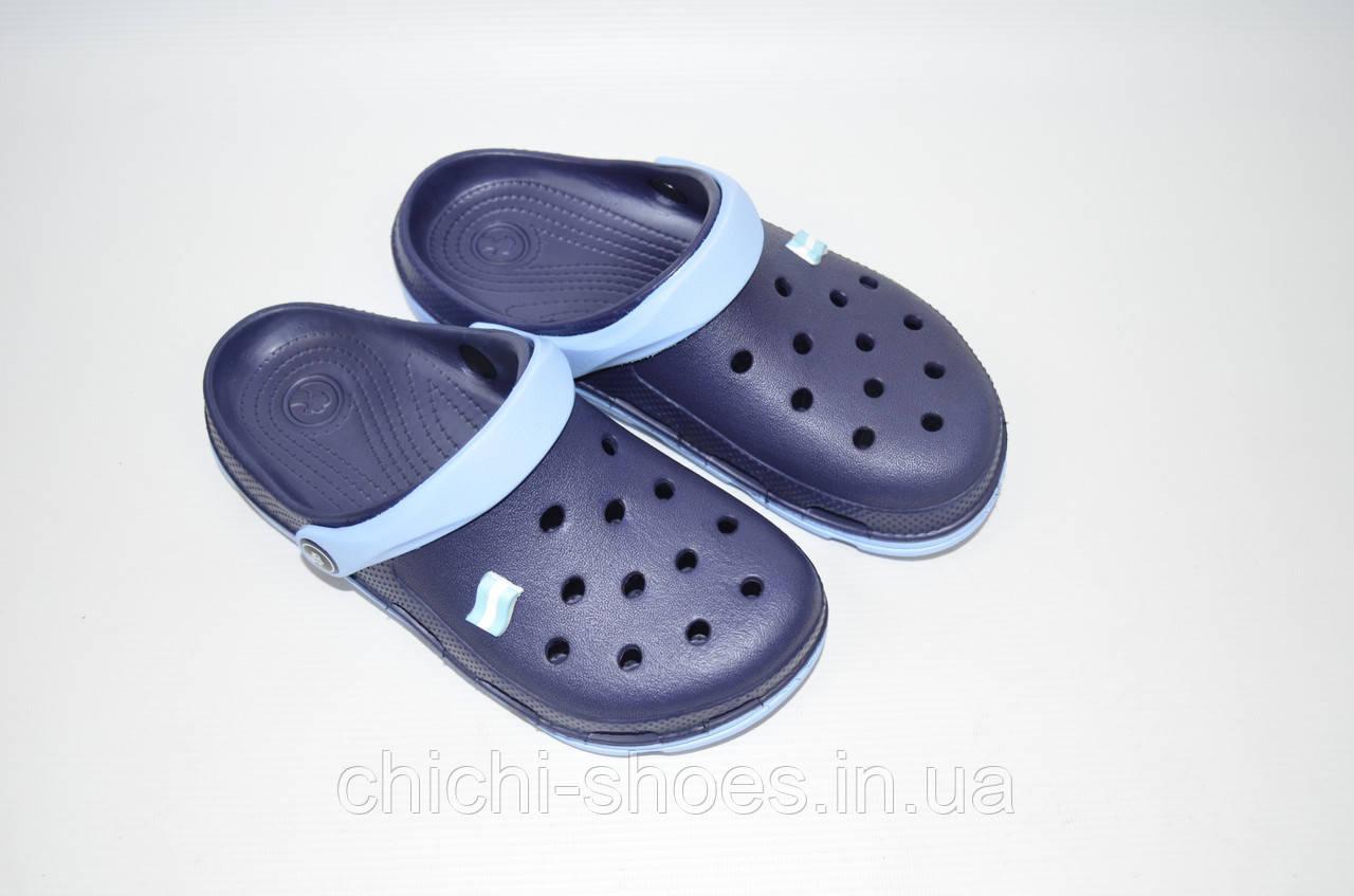 Кроксы подростковые Jose Amorales 116212 тёмно-синие