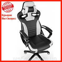 Геймерское компьютерное кресло Вarsky Sportdrive Game white/black SD-17