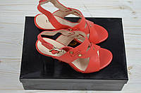 Босоножки женские It Girl 696-27-927 красные кожа каблук, фото 1