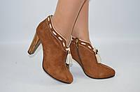 Ботильоны женские it Girl 106-248 коричневые замша каблук, фото 1
