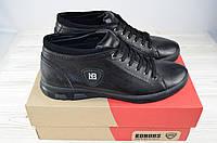 Ботинки мужские демисезонные KONORS 855-7-11 чёрные кожа, фото 1
