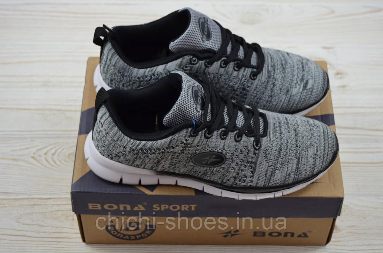 Кросівки підліткові Bona 115C-2 сірі текстиль (останній 36 розмір)