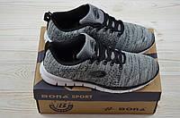Кросівки підліткові Bona 115C-2 сірі текстиль (останній 36 розмір), фото 1