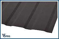 Профнастил стеновой ПС-10, RAL 8019 Цвет Серо-коричневый (матовый).