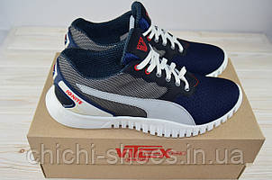Кроссовки мужские Vitex 12306B синие текстиль