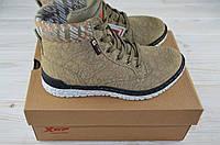 Кроссовки-ботинки подростковые X-TEP 170266 бежевые ПВХ, фото 1