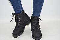 Ботинки женские зимние ILONA 434-55 чёрные замша, фото 1